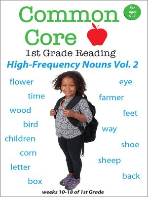 cover image of Common Core 1st Grade Reading: High-Frequency Nouns, Volume 2