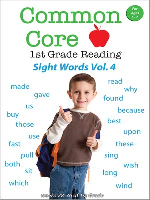 cover image of Common Core 1st Grade Reading: Sight Words, Volume 4