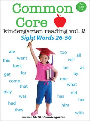 cover image of Common Core Kindergarten Reading: Sight Words, Volume 2