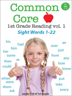 cover image of Common Core 1st Grade Reading: Sight Words, Volume 1