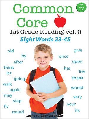 cover image of Common Core 1st Grade Reading: Sight Words, Volume 2