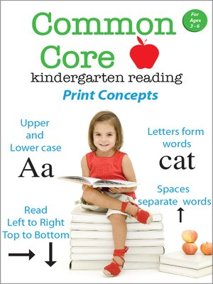 cover image of Common Core Kindergarten Reading: Print Concepts