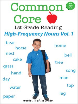 cover image of Common Core 1st Grade: High Frequency Nouns, Volume 1