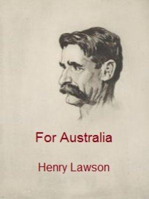 cover image of For Australia