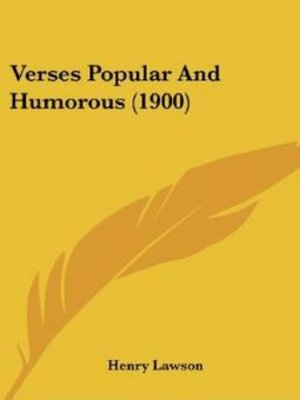 cover image of Verses Popular and Humourous