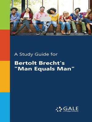 "cover image of A Study Guide for Bertolt Brecht's ""Man Equals Man"""