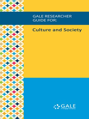 cover image of Gale Researcher Guide for: Culture and Society