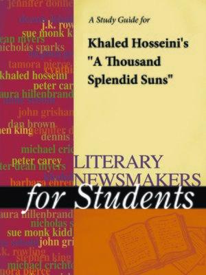 "cover image of A Study Guide for Khaled Hosseini's ""A Thousand Splendid Suns"""