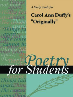 originally carol ann duffy poem