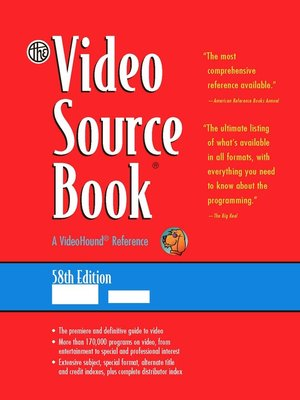 cover image of The Video Source Book