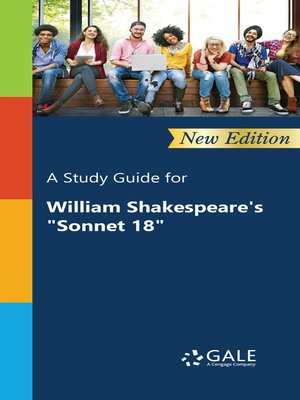"""cover image of A Study Guide for William Shakespeare's """"Sonnet 18"""""""