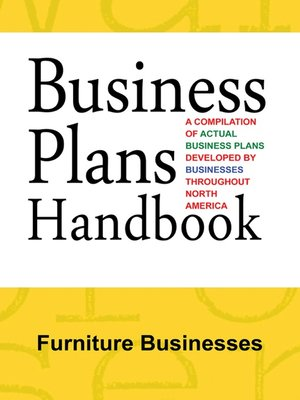 cover image of Business Plans Handbook: Furniture Businesses