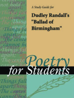 """cover image of A Study Guide for Dudley Randall's """"Ballad of Birmingham"""""""