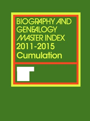 cover image of Biography and Genealogy Master Index