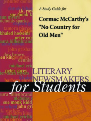 """cover image of A Study Guide for Cormac McCarthy's """"No Country for Old Men"""""""