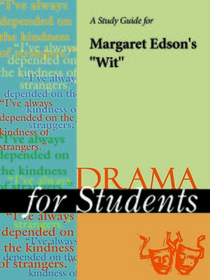 """cover image of A Study Guide for Margaret Edson's """"Wit"""""""