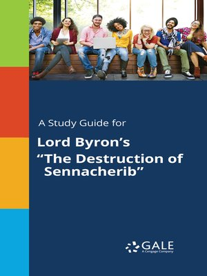 """cover image of A Study Guide for Lord Byron's """"The Destruction of Sennacherib"""""""