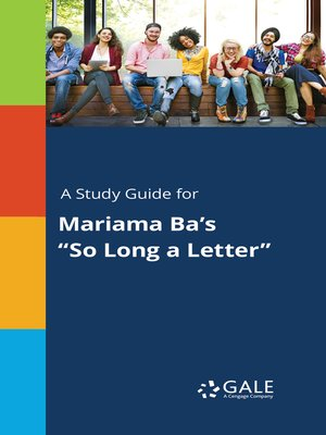 "cover image of A Study Guide for Mariama Ba's ""So Long a Letter"""