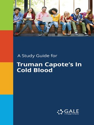 "cover image of A Study Guide for Truman Capote's ""In Cold Blood"""