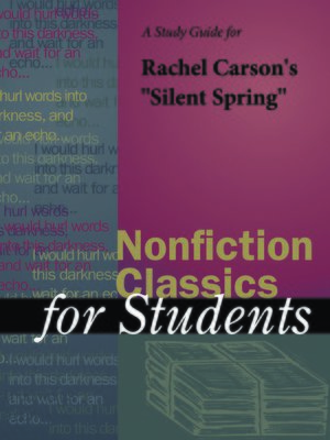 """cover image of A Study Guide for Rachel Carson's """"Silent Spring"""""""