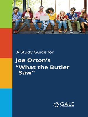 "cover image of A Study Guide for Joe Orton's ""What the Butler Saw"""