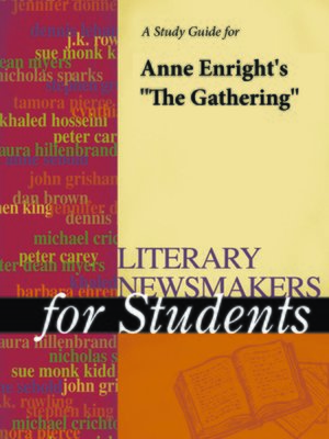 """cover image of A Study Guide for Ann Enwright's """"The Gathering"""""""