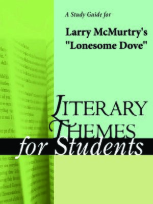 "cover image of A Study Guide for ""Lonesome Dove"""