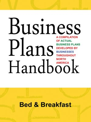 cover image of Business Plans Handbook: Bed & Breakfast
