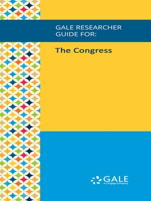 cover image of Gale Researcher Guide for: The Congress