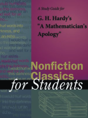 "cover image of A Study Guide for G. H. Hardy's ""A Mathematician's Apology"""