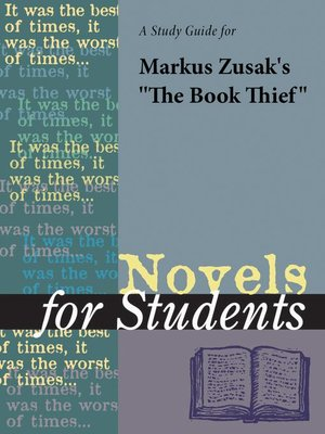 "cover image of A Study Guide for Markus Zusak's ""The Book Thief"""
