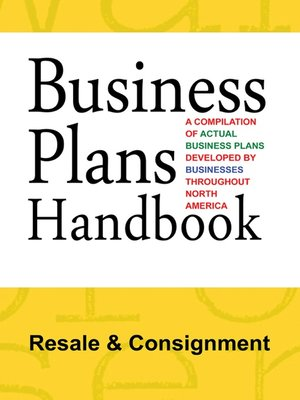 cover image of Business Plans Handbook: Resale & Consignment
