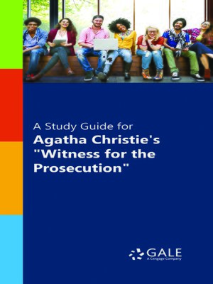 "cover image of A Study Guide for Agatha Christie's ""Witness for the Prosecution"""