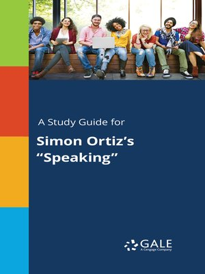 """cover image of A Study Guide for Simon Ortiz's """"Speaking"""""""
