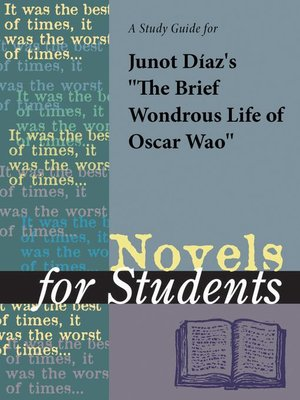 """cover image of A Study Guide for Junot Diaz's """"The Brief Wondrous Life of Oscar Wao"""""""