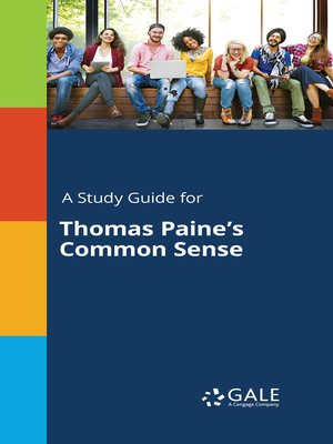 """cover image of A Study Guide for Thomas Paine's """"Common Sense"""""""