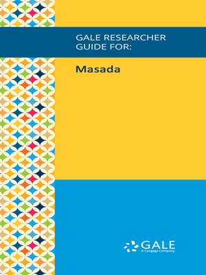 cover image of Gale Researcher Guide for: Masada
