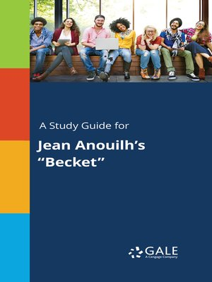 """cover image of A Study Guide for Jean Anouilh's """"Becket"""""""