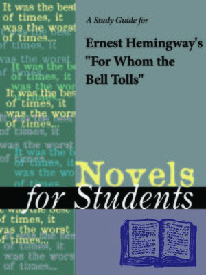 """cover image of A Study Guide for Ernest Hemingway's """"For Whom the Bell Tolls"""""""