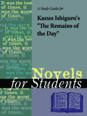 "cover image of A Study Guide for Kazuo Ishiguro's ""The Remains of the Day"""