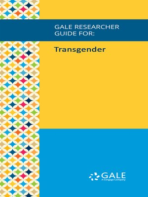 cover image of Gale Researcher Guide for: Transgender