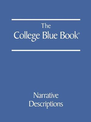 cover image of The College Blue Book