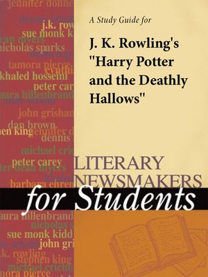 "cover image of A Study Guide for J.K. Rowling's ""Harry Potter and the Deathly Hallows"""