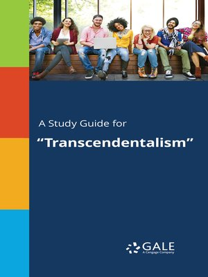 "cover image of A Study Guide for ""Transcendentalism"""