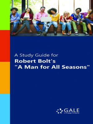 """cover image of A Study Guide for Robert Bolt's """"A Man for All Seasons"""""""