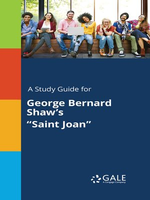 """cover image of A Study Guide for George Bernard Shaw's """"Saint Joan"""""""