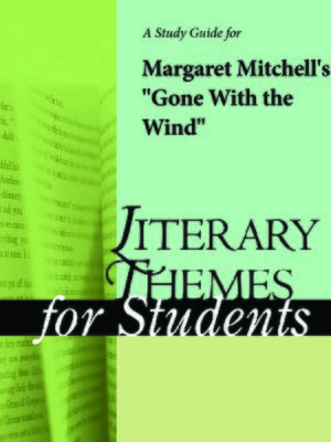 """cover image of A Study Guide for Margaret Mitchell's """"Gone with the Wind"""""""