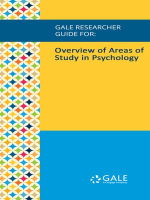 cover image of Gale Researcher Guide for: Overview of Areas of Study in Psychology