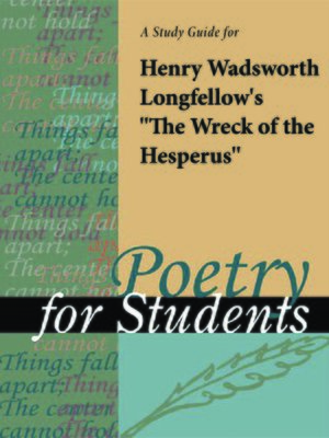 "cover image of A Study Guide for Henry W. Longfellow's ""The Wreck of the Hesperus"""