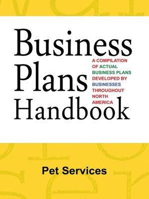 cover image of Business Plans Handbook: Pet Services